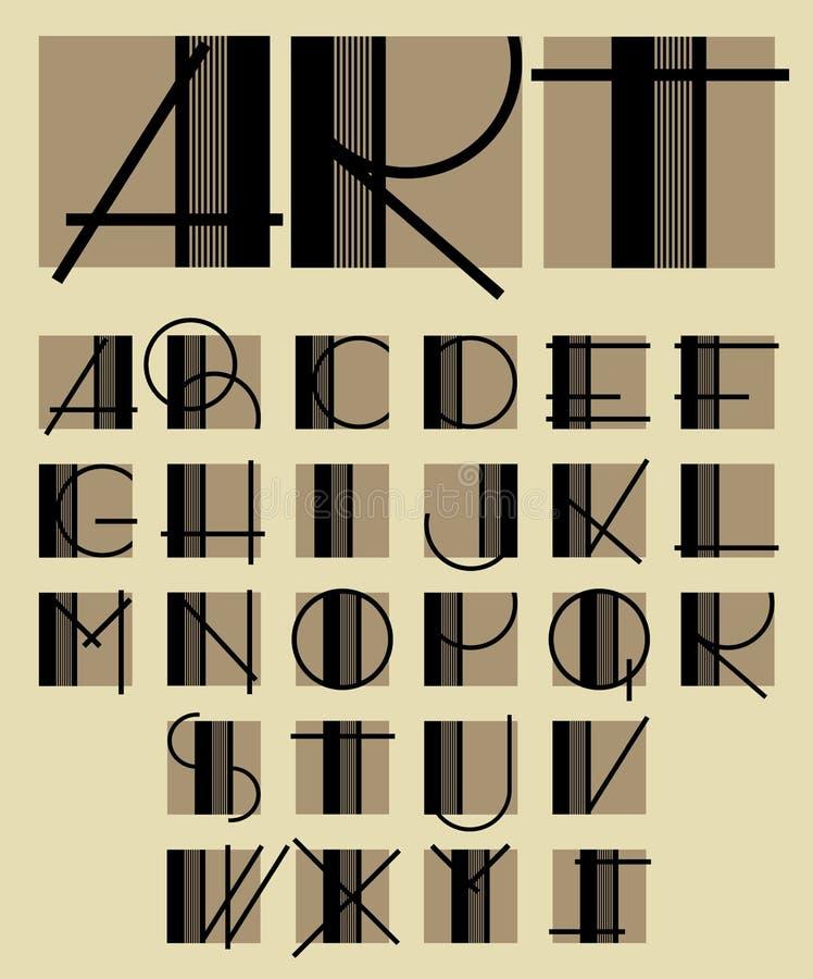 Origineel uniek eigentijds alfabetontwerp vector illustratie