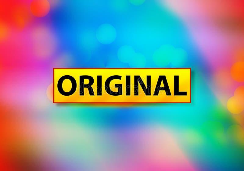 Originele Abstracte Kleurrijke Ontwerpillustratie het Achtergrond van Bokeh royalty-vrije stock foto's