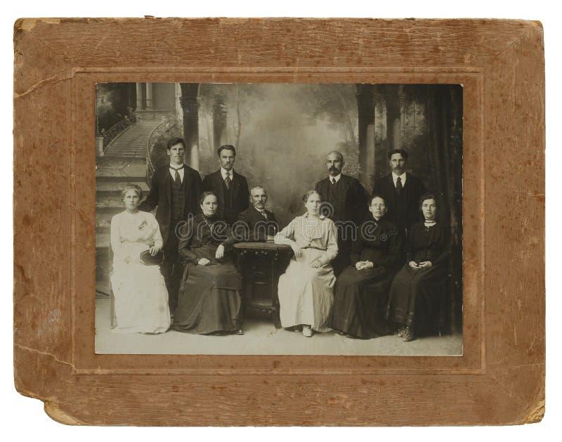 Originele antieke foto van volwassene tien stock foto