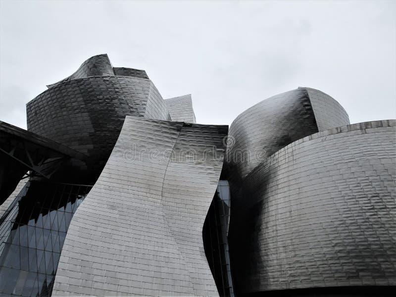 originele en moderne architectuur in titanium royalty-vrije stock foto's