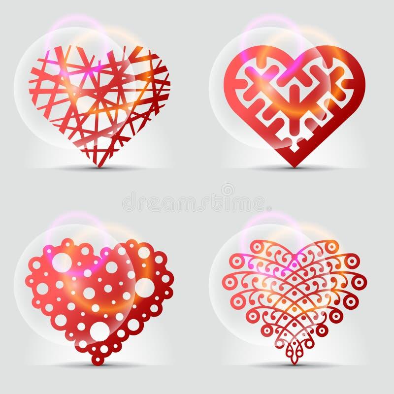 Originele hartsymbolen (pictogrammen, tekens). royalty-vrije illustratie