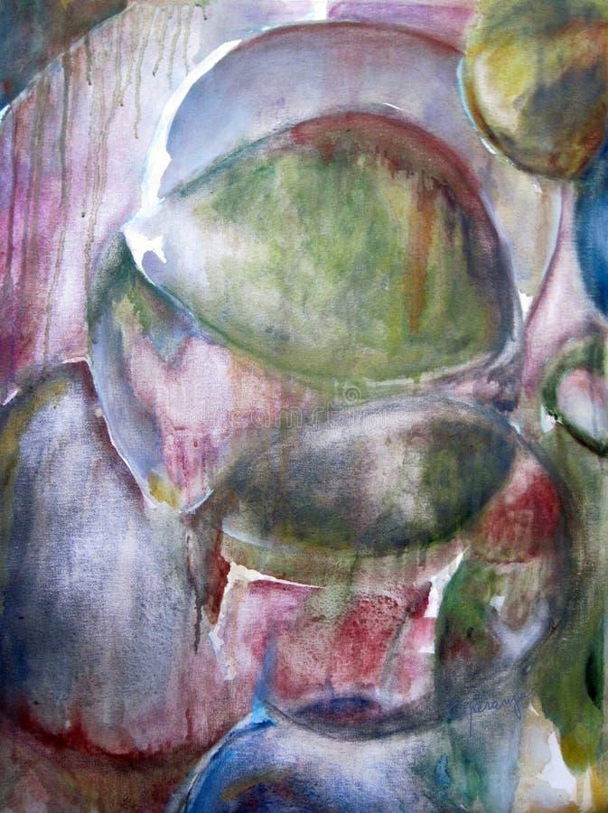 Originele het schilderen abstracte kunstwerkolie royalty-vrije illustratie