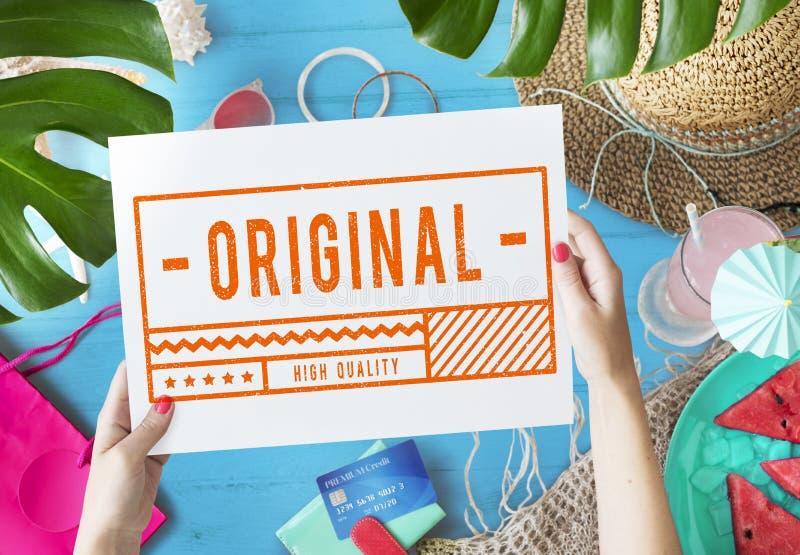 Originele Hoogte - het Tekenconcept van de kwaliteitszegel royalty-vrije stock afbeeldingen