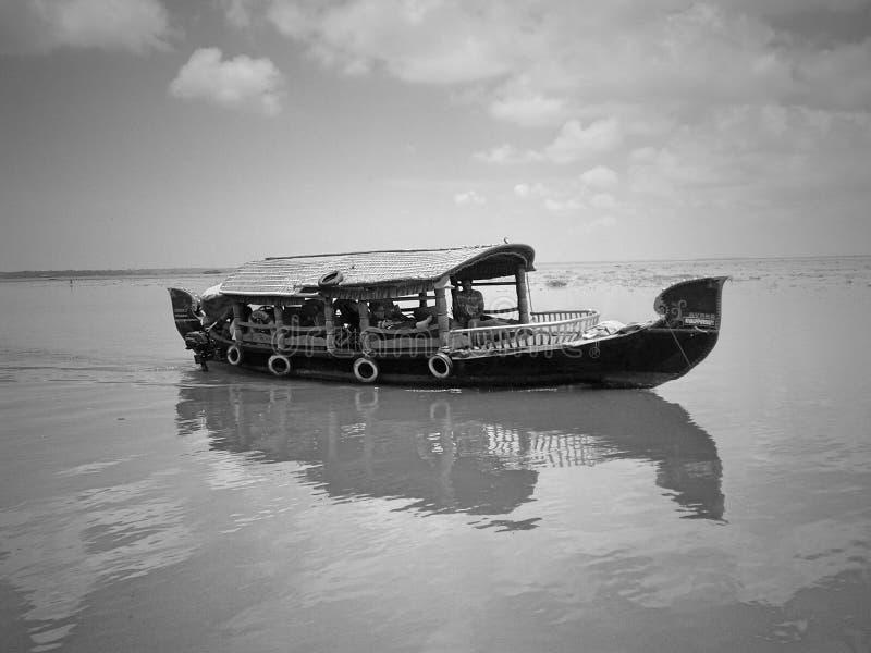Originele huisboot/hut royalty-vrije stock afbeelding