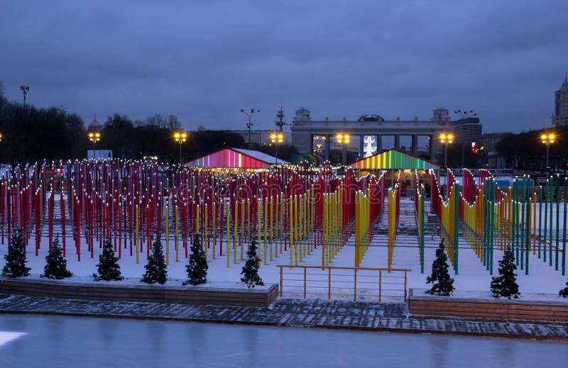 Originele installatie in het centrale park van Moskou stock foto