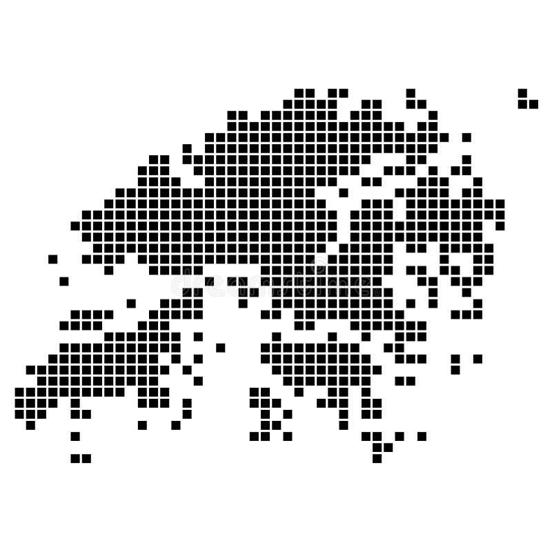 Originele kaart van district van Hong Kong royalty-vrije illustratie