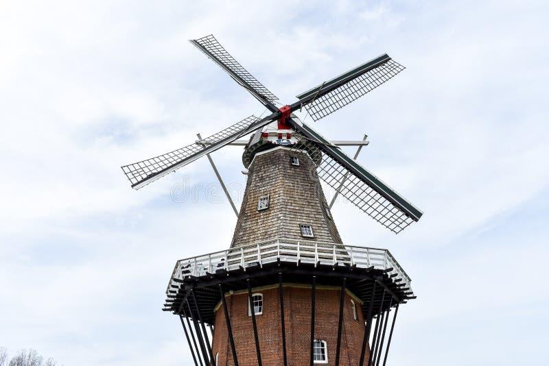 Originele Nederlandse Windmolen in Holland, Michigan stock fotografie