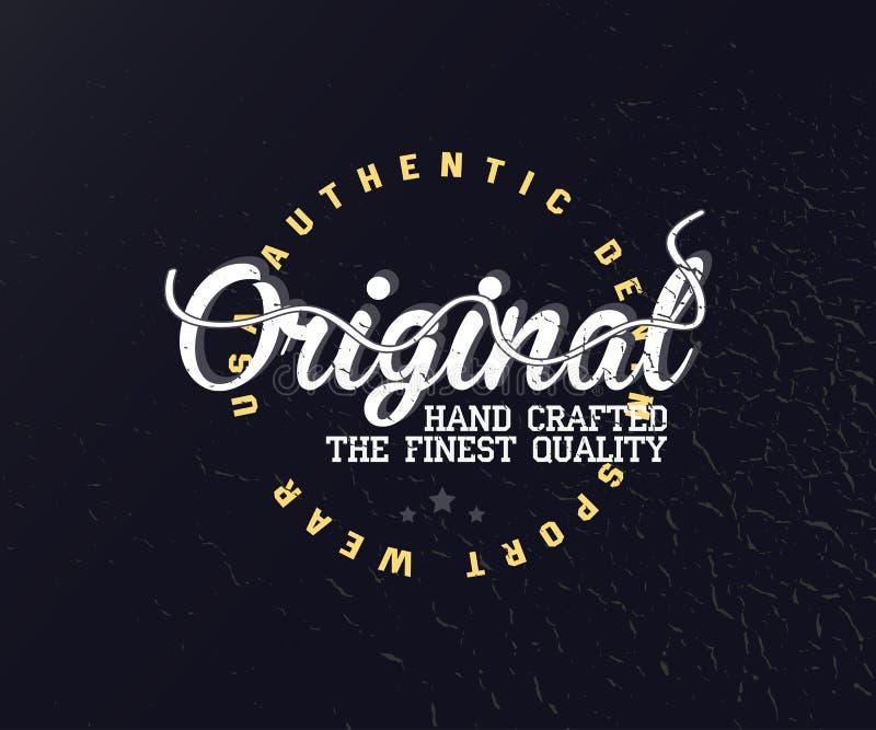Originele uitstekende typografie voor kleding stock illustratie