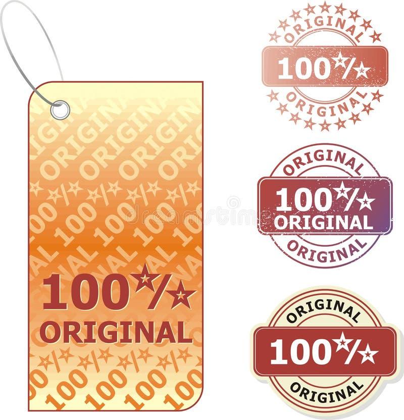 originell försäljning stock illustrationer