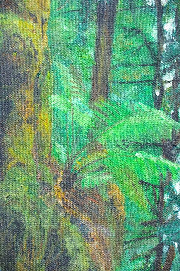 originell målning för kanfasgicleeolja stock illustrationer