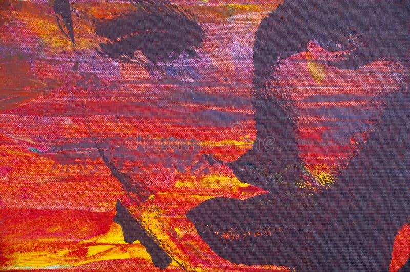 originell målning för olja stock illustrationer