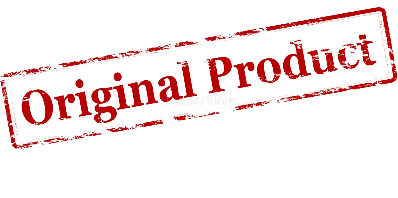 originell produkt stock illustrationer