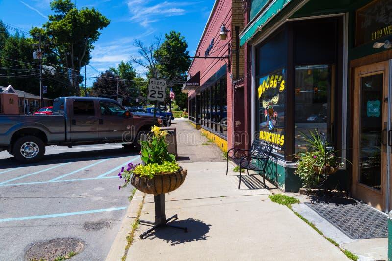 Orignaux Munchies en Troy Main Street image libre de droits