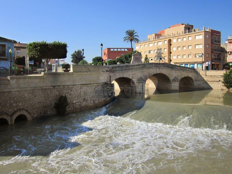 orihuela rzeczny Segura Spain zdjęcie royalty free