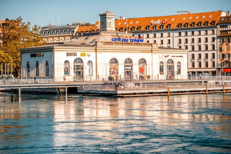 Orilla de Ginebra en Suiza foto de archivo libre de regalías