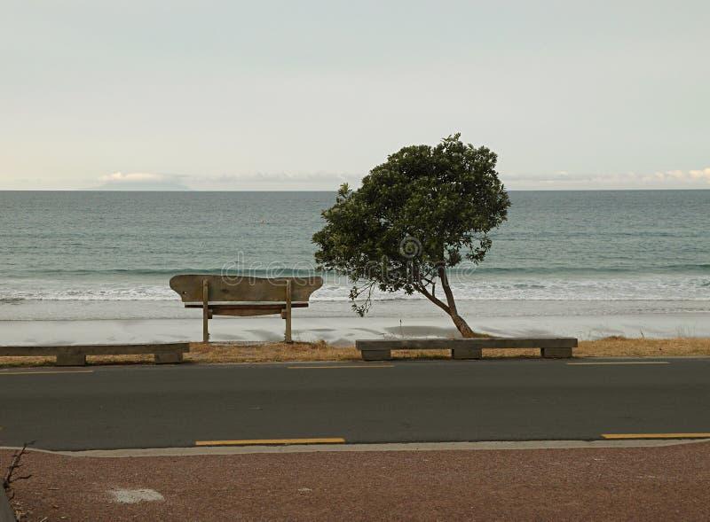 Orilla de mar de Peopleless por la tarde fotos de archivo