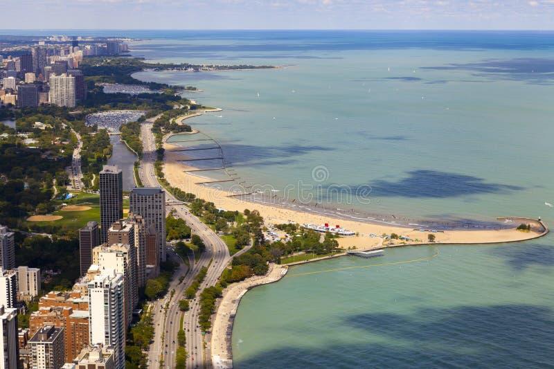 Orilla del lago chicago foto de archivo