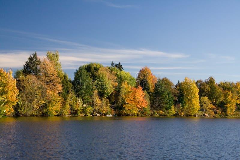 Orilla del lago en caída imagen de archivo libre de regalías