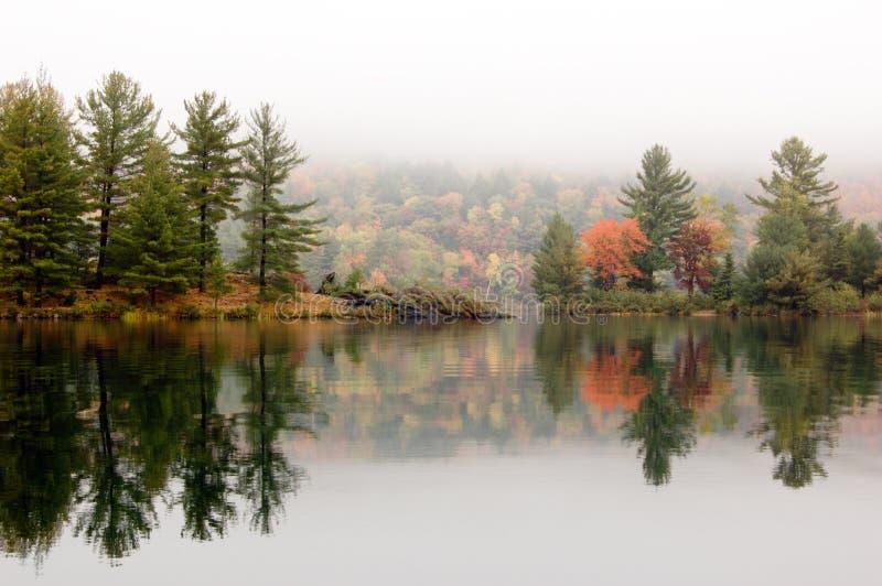 Orilla del lago George foto de archivo