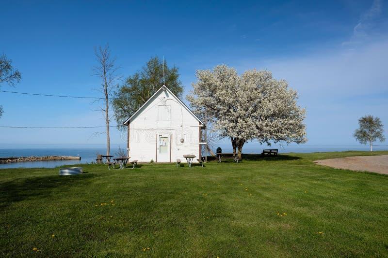 Orilla del lago Hurón, Michigan, los E.E.U.U. imagen de archivo libre de regalías
