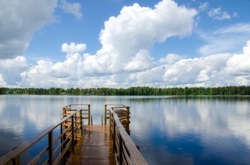 Orilla del lago. Paisaje del verano. imagenes de archivo