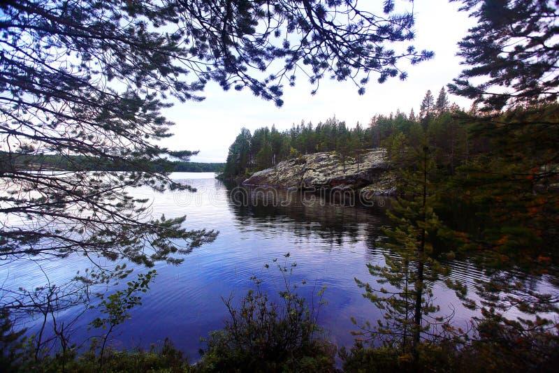 orilla del lago por la tarde imagen de archivo libre de regalías