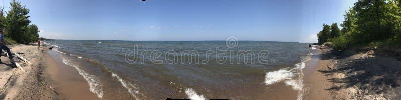 Orilla del lago Superior fotografía de archivo