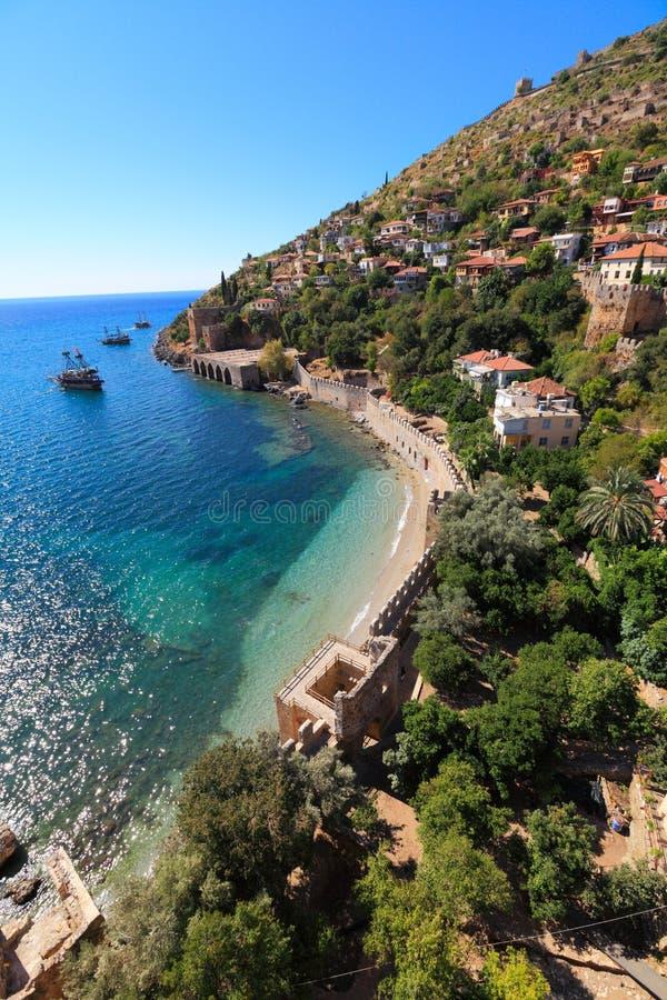 Orilla del mar Mediterráneo, de Alanya, Turquía imagen de archivo libre de regalías