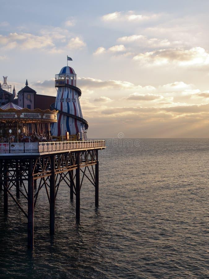 Orilla del mar Reino Unido del embarcadero de Brighton imagenes de archivo