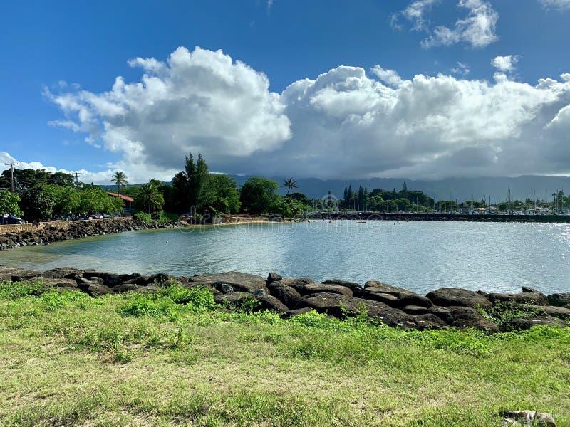 Orilla del norte Haleiwa, Oahu Hawaii foto de archivo
