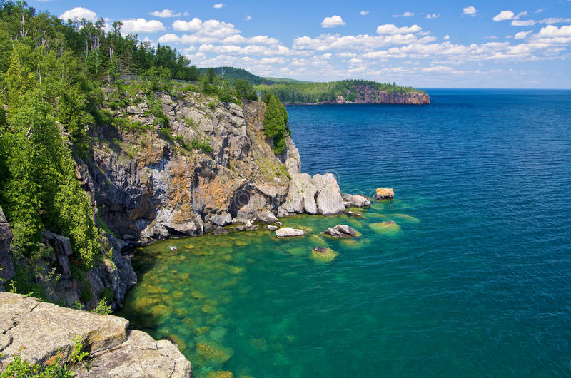 Orilla del norte, superior de lago fotografía de archivo