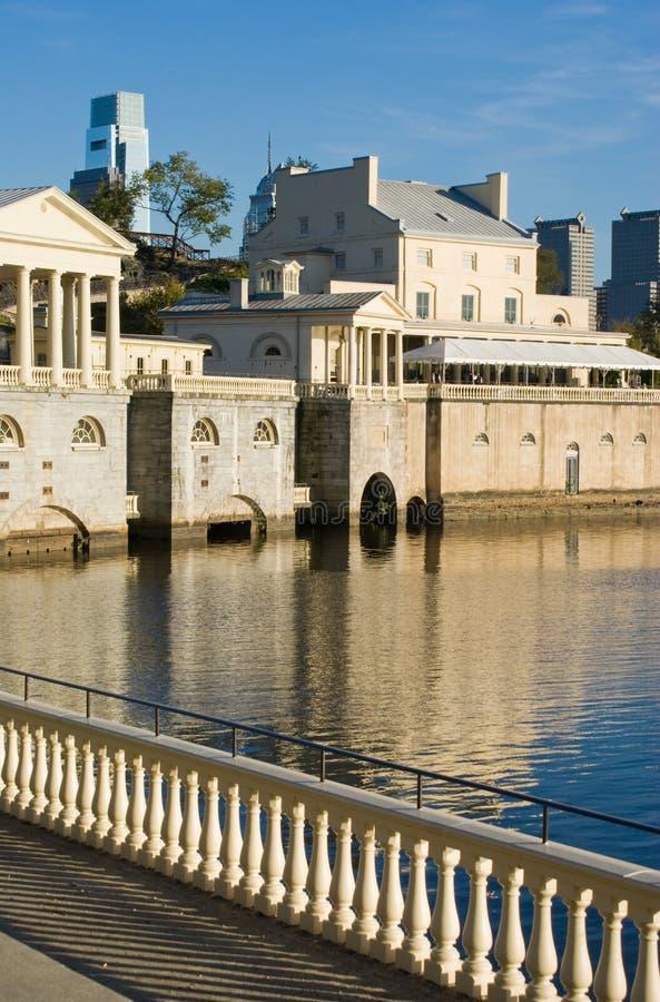 Orilla del río de Philadelphia fotografía de archivo libre de regalías
