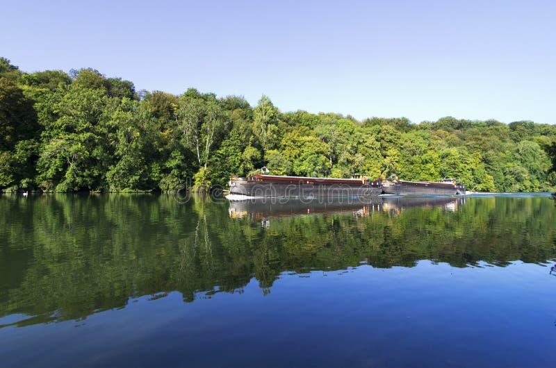 Orilla del río de Seine del bosque de Fontainebleau imágenes de archivo libres de regalías