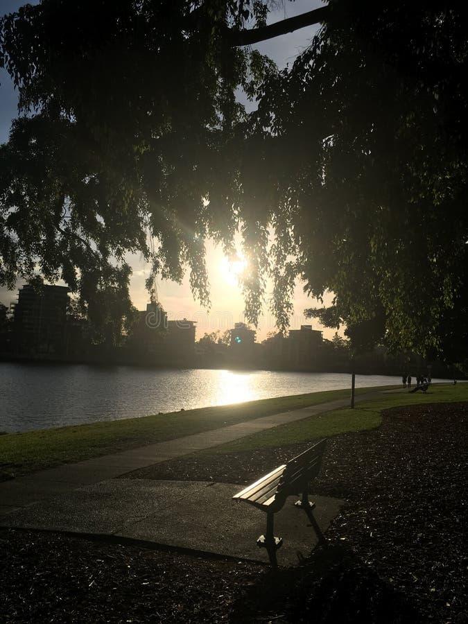 Orilla del río en Brisbane, Australia imagen de archivo libre de regalías
