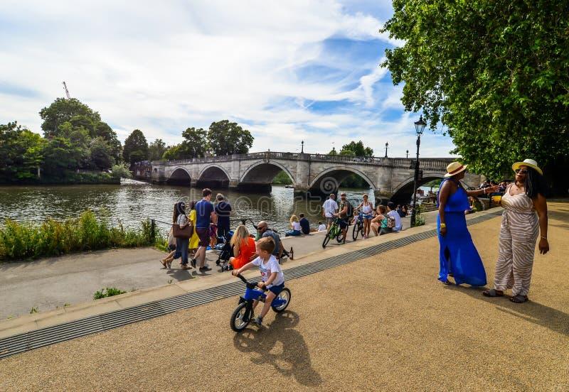 Orilla en el verano - Londres fotos de archivo libres de regalías