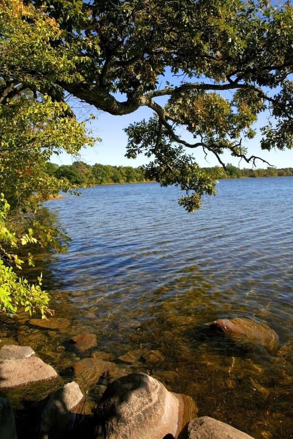 Orilla escénica del lago imágenes de archivo libres de regalías