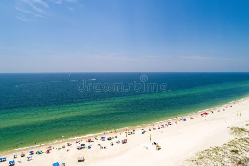 Orillas del golfo, Alabama en un día de verano fotografía de archivo libre de regalías