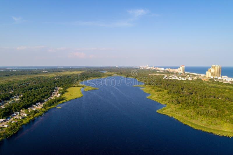 Orillas del golfo, Alabama en un día de verano fotos de archivo libres de regalías