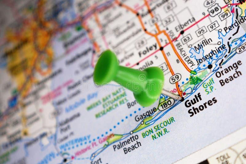 Orillas del golfo, Alabama foto de archivo libre de regalías