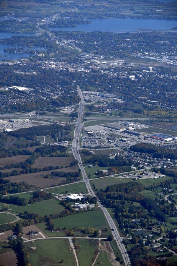 Orillia Ontario, aérien images libres de droits