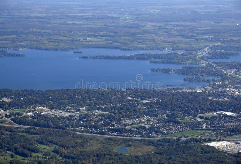 Orillia Ontario, aérien images stock