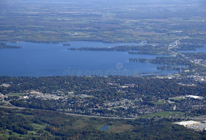 Orillia Ontario, lucht stock afbeeldingen