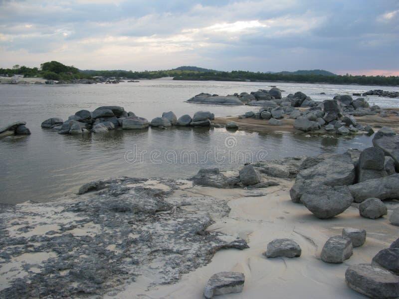 Orinoco Puerto Ayacucho Amazonas Rzeczny stan Wenezuela fotografia stock