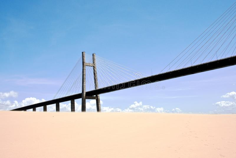 Orinoquia bridge stock foto's