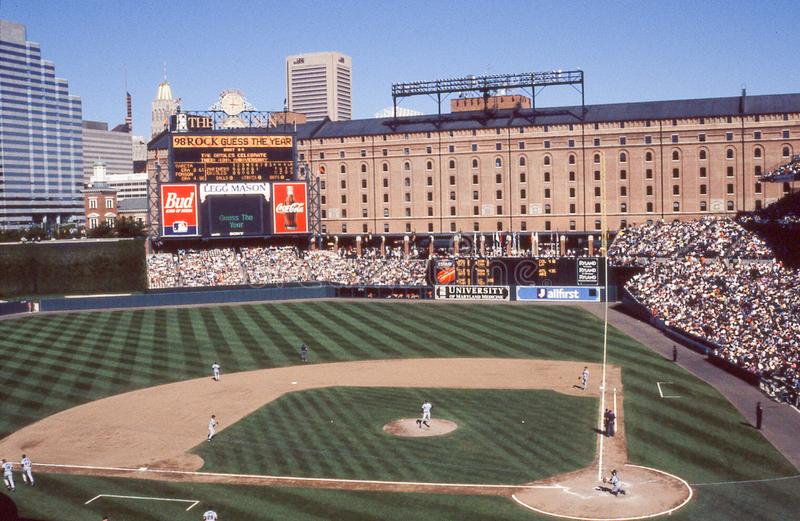 Oriole Park in Camden Yards, Baltimore, M.D. royalty-vrije stock foto