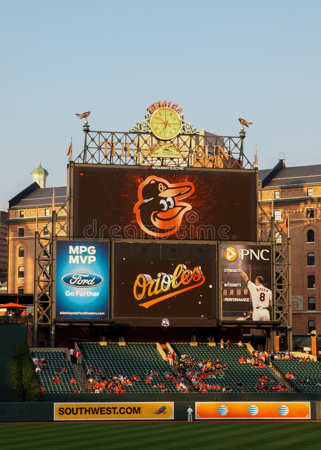 Oriole Park at Camden Yards royalty free stock image