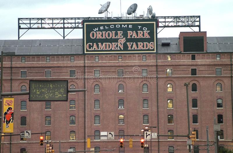 Oriole Park på Camden Yards i Baltimore, Md royaltyfri bild