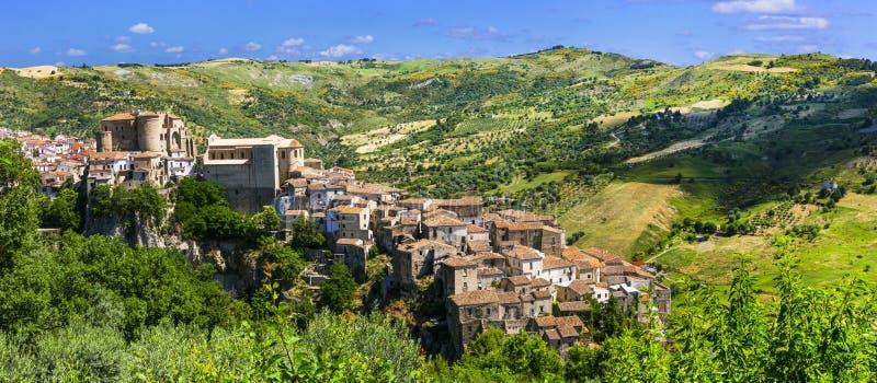 Oriolo Calabro - eins der schönsten mittelalterlichen Dörfer von Italien, Kalabrien Region lizenzfreie stockbilder