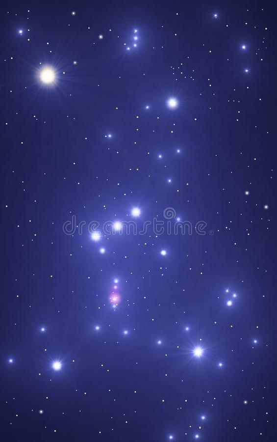 Orion. Illustration of the constellation Orion, done with PC royalty free illustration