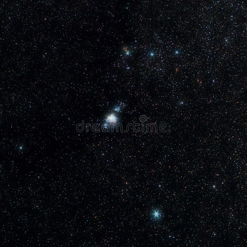 Orion Canstellation royalty-vrije stock afbeelding